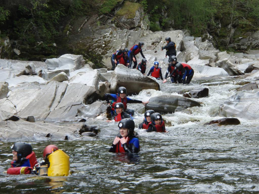 Canyoning and gorge walking in Pitlochry Scotland